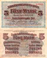 WWI (Germany - Occupation Lithuania) 5 MARK (1918) Pick R130 SUP- (XF) - [ 9] Occupied German Territories
