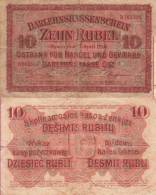 WWI (Germany - Occupation Lithuania) 10 (1916) RUBEL Pick R124 TB- - [ 9] Occupied German Territories