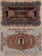 WWI (Germany - Occupation Lithuania) 1 RUBLE (1916) Pick R122c TB (F) - [ 9] Occupied German Territories