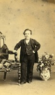 USA Cirque P.T. Barnum Nain General Tom Thumb Ancienne Photo CDV Charles Fredericks 1870 - Photographs
