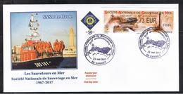 ATM, LISA2, 0.73€, FDC 23/05/2017, OBLITEREE, VANNES, CANOT DE LA SNSM, 50éme ANNIVERSAIRE DE LA SNSM - 2010-....