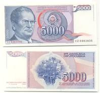 Yugoslavia 5.000 Dinara 1985 Pick 93.a UNC - Yugoslavia