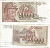 Yugoslavia 20.000 Dinara 1987 Pick 95 Ref 1292 - Yugoslavia