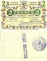 Belgique - Belgium HERSEAUX --> 2  Fr (29/11/1914 - Série 2)  NEUF - [ 3] Occupations Allemandes De La Belgique