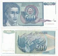 Yugoslavia 500 Dinara 1990 Pick 106 Ref 1296 - Yugoslavia