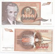 Yugoslavia 1.000 Dinara 1990 Pick 107 Ref 1297 - Yugoslavia