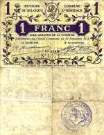 Belgique - Belgium HERSEAUX --> 1  Fr (29/11/1914 - Série 1)  TTB (VF) - [ 3] Ocupaciones Alemanas En Bélgica