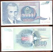 Yugoslavia 1.000 Dinara 1991 Pick 110 Ref 1016 - Yugoslavia