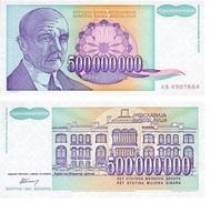Yugoslavia 500.000.000 Dinara 1993 Pick 134 UNC - Yugoslavia