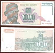 Yugoslavia 1.000 Dinara 1994 Pick 140.a UNC - Yugoslavia
