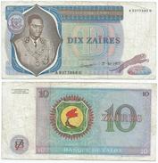 Zaire 10 Zaires 1977, Firma 4 Pick 23.b Ref 1307 - Zaire