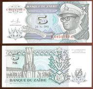 Zaire 5 Makuta 1993 Pick 48.a UNC - Zaire