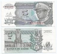 Zaire 5 Makuta 1993 Pick 48.a Ref 1309 - Zaire