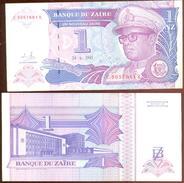 Zaire 1 Zaire 1993 Pick 52.a UNC - Zaire