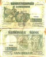 BELGIUM BELGIQUE 50 Fr Ou 10 BELGAS 8/1/1937 (Sontag/Franck) Pick 106 - Unclassified