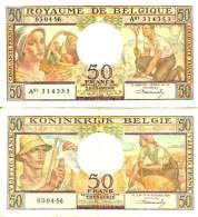BELGIUM - BELGIQUE - 50 FRANCS 3/4/1956 - Pick 133b SUP+ (XF+) - [ 3] German Occupation Of Belgium