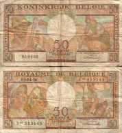 BELGIUM - BELGIQUE - 50 FRANCS 3/4/1956 - Pick 133b TB - [ 3] German Occupation Of Belgium