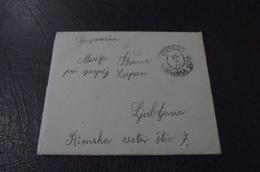 344. Letter Kronau Kranjska Gora - Ljubljana  1909. - Slowenien