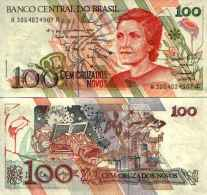 Brésil 100 CRUZADOS NOVOS Pick 220a NEUF - Brazilië