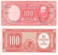 CHILE - CHILI - 10 CENTISIMOS Ou 100 PESOS  (1960-61) - Pick 127 SUP+ (XF/AU) - Chili