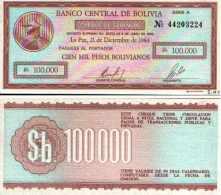 Bolivie - Bolivia 100 000 PESOS (1984) Pick 188 NEUF - UNC - Bolivia