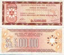 Bolivie - Bolivia 5 000 000 P  BOLIVIANOS 1985 - Pick 193 (UNC) - Bolivia