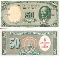 Chili - Chile 5 CENTISIMOS OU 50 PESOS (1960-61) Pick 126b NEUF-UNC - Chili