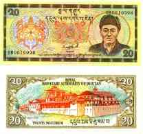Bhoutan - Bhutan -  20 NGULTRUM (1992) Pick 16b UNC - Bhutan