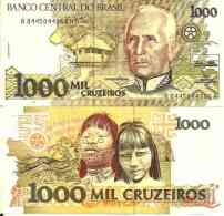 Brésil - Brazil 1000 CRUZEIROS 1988 - Pick 231b TTB (VF) - Brasil