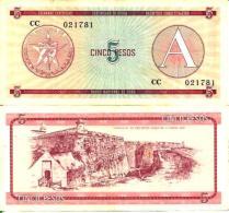 5 PESOS - ND 1985 (1 Peso = 0,9 Ruble) - Pick Fx3 SUP (XF) - Cuba