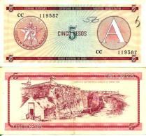 5 PESOS ND 1985 (1 Peso = 0,9 Ruble) - Pick Fx3 TTB (VF) - Cuba
