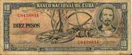 Havana  10 PESOS 1956 -  Pick 88a (Série C) TB+ (Fine) - Cuba