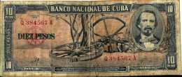 Cuba 10 PESOS Pick 88c (Sig Che Guevara) TB - Cuba