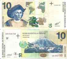 Salvador 10 COLONES (2/3/1998 - Pick 148 (Série AS) -  Neuf (UNC) - El Salvador