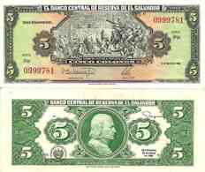 Salvador - El Salvador 5 COLONES 17/3/1988 - Pick 134b  UNC - El Salvador