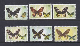 Papua New Guinea SG 941-946 2002 Butterflies Mint Never Hinged Set - Papua New Guinea