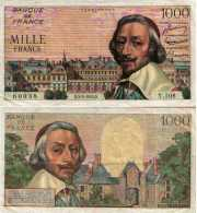 1000 Francs RICHELIEU (Type 1953) 1000 FRANCS F 42 / 10 SUP- - 1871-1952 Circulated During XXth