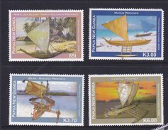 Papua New Guinea SG 1355-1358 2009 Canoes Set MNH - Papua New Guinea