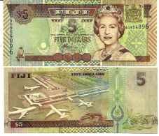 Fidji (îles) - Fiji  5 DOLLARS - 2002 - Pick 105b UNC - Fidji