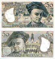 FRANCE - 50 Fr (Quentin De La Tour) 1985 - F 67 / 11 (Pick 152b)  SPL (AUNC) - 1962-1997 ''Francs''
