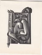 Ex Libris - ING - Gianni Mantero - Graveur Voir Scan - Format 8.5 X 11 Cm - Ex-libris
