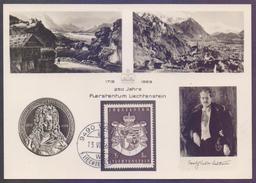LIECHTENSTEINE 1969 Maximum Card - 250 Years - Maximum Cards