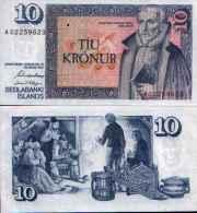 Islande - Iceland 10 KRONUR (L 1961 (1981))  Pick 48 NEUF (UNC) - Iceland