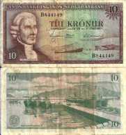 Islande - Icelande 10 KRONUR (L 1957) Pick 38a TTB (VF) - Islande