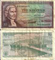 Islande - Iceland 10 KRONUR (L 1961) Pick 42 TB+ - Islande