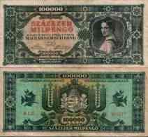 Hongrie Hungary 100 000 MILPENGO 1946- Pick 127 TTB - Hungary