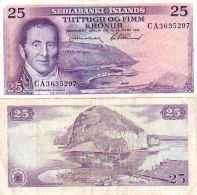 Islande - Iceland 25 KRONUR (L 1961) Pick 43 TTB (VF) - Iceland