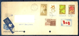 J423- Postal Used Cover. Posted From Canada To Pakistan. Plants. Flag. Famous People. - Canada
