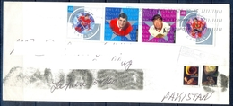 J425- Postal Used Cover. Posted From Canada To Pakistan. Sports. Games. - Canada