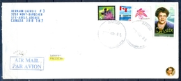 J426- Postal Used Cover. Posted From Canada To Pakistan. Flag. Bee. Flowers. Famous People. - Canada